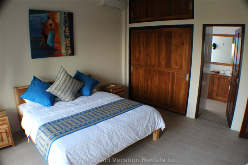Each of the Four Bedrooms has a Larger than King Sized Bed and its Own En Suite Bathroom, plus Private Patio.