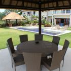 There is a Large Gazebo on the Seafront of the Garden, When Guests Can Enjoy Oceanside Dining.