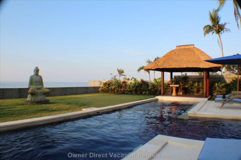The Private Swimming Pool is Just Paces from the Main Living Area of the Villa (North Bali).