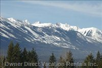 View to Kicking Horse Mountain Resort - View from the Deer Lodge