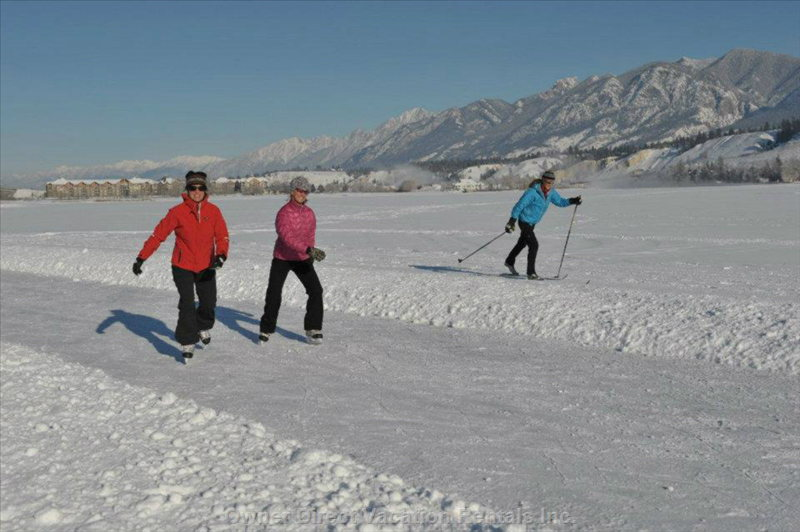 Lake Windermere Whiteway, Skating and Cross Counrty Skiing during the Winter Months