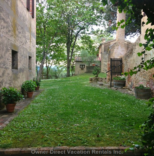 Another Part of the Garden between the 3 Farmhouses that Make up the Borgo