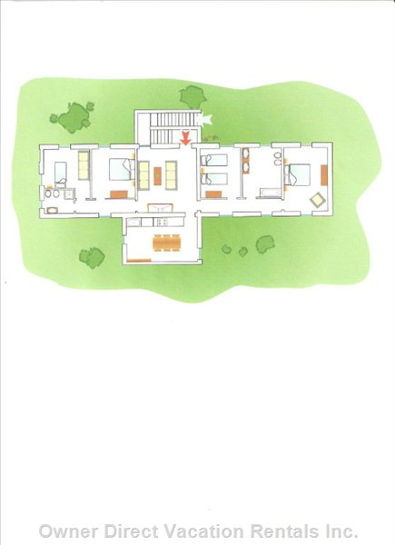 Floorplan of the House- Great Even for 2 Families as it Offers Privacy