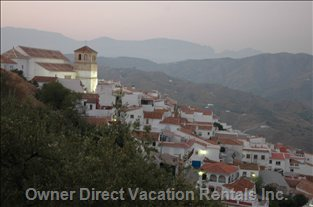 Cútar is a Small Moorish Village above Malaga, Close to the Sea