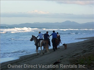 Horseback Riding on the Beach in Front of the Apartment