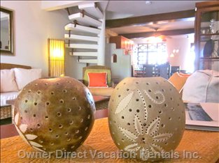 Island Feel - Cabarete Offers Plenty of Attractive Souvenirs like these Candle Light Shades Made from Breadfruit Shells Or Coconuts