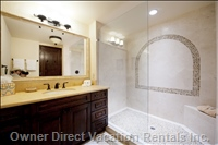 Exquisite Bathrooms with Luxury Fixtures & Finishes...touch of Mexico Details