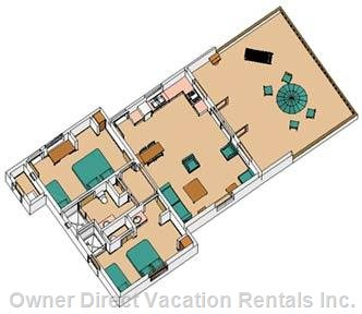 Main Floor Plan of Casa Pacifica