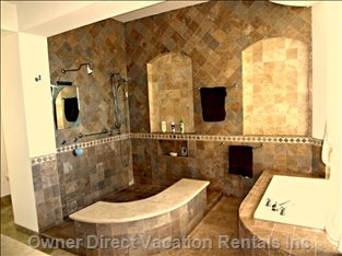 Main Master Bedroom Suite with Extra Huge Bath and Shower
