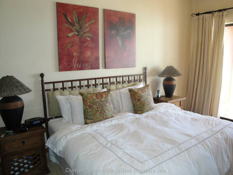 Master Bedroom with King Size Bed, Fine Linens