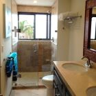 Guest with Double Sinks and Walk in Shower Body Wash, Shampoo, Conditioner