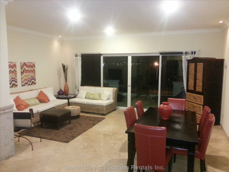 Dining Room/Living Area with Walk-out to Very Large Balcony---with Ocean Views!