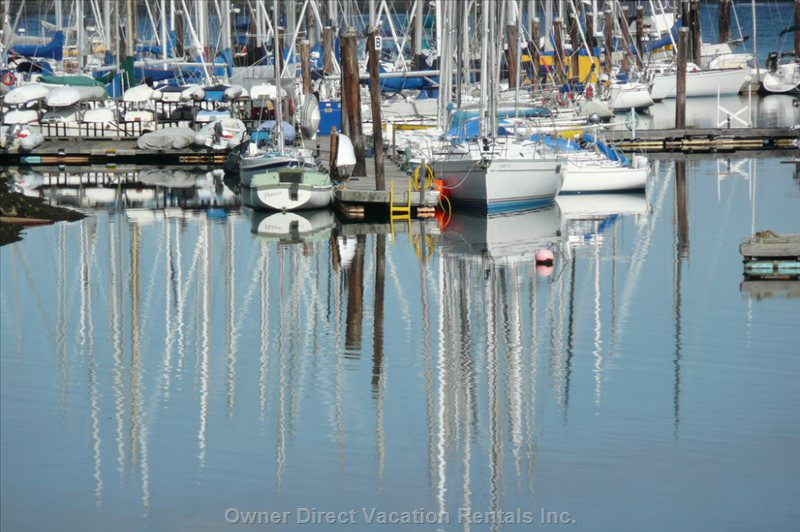 Walk to the Marina to See the Boats, Watch the Regattas from the Front of the Home