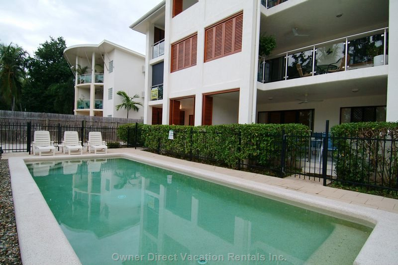 Pool & Spa on the Beachfront - Ground Floor Apartment has Direct Access to the Pool & Spa (via Safety Gate) Then across the Quiet Esplanade to the Sandy Beach.