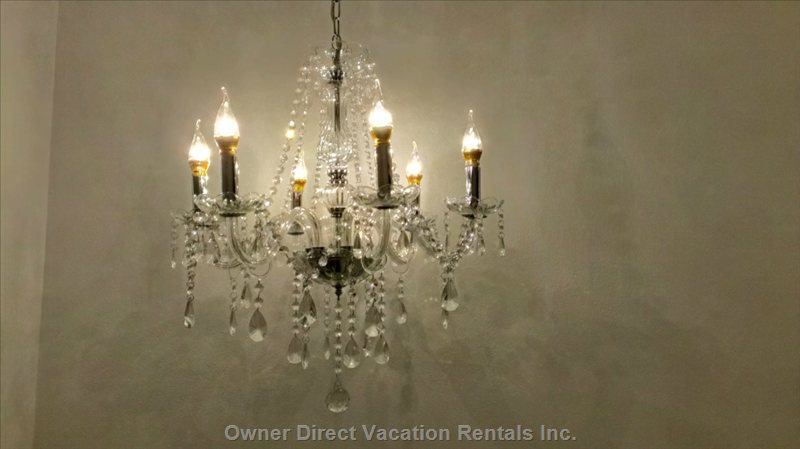 Close up of a Main Bedroom Chandelier