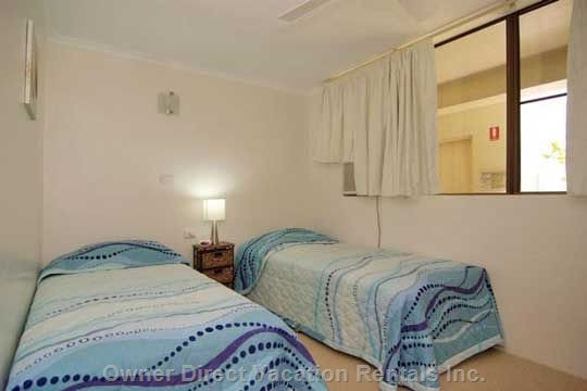 Twin Beds Or 1 King. Air Conditioned. Additional TV/DVD