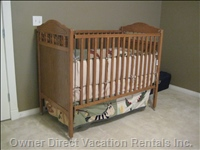 Wood Crib for your little one!