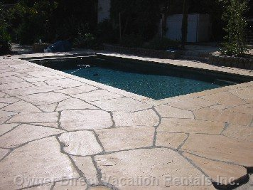 Flagstone Patio Pool Deck