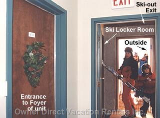 Foyer Door–Ski Locker Next to Unit–Very Convenient Ski in&out