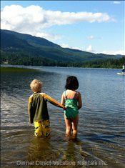 Kids Love the Shallow Shore, the Water is Warm and they Can Play in the Water Safely.