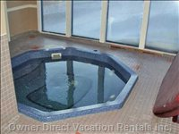 Eight Person Shared Hot Tub off the Family Room Door