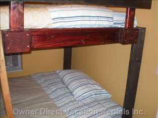 Third Bedroom is a Double up and down Bunk