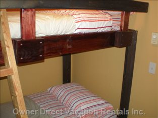 Fourth Bedroom is a Single up and down Bunk