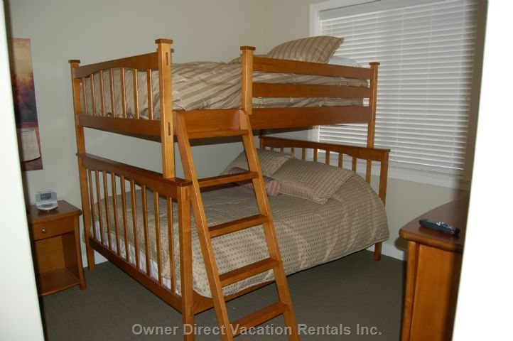 Second Bedroom - Queen and Double Bunk