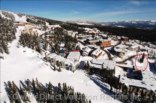 That Could be you on Perfection Ski Run (our Building is at the Center of the Photo)