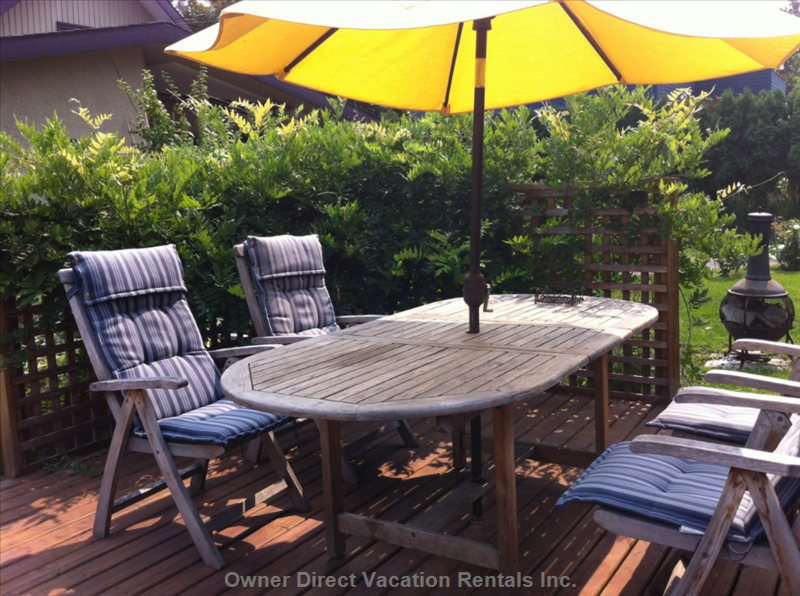 Relax on the Large Patio with Wisteria Arbour