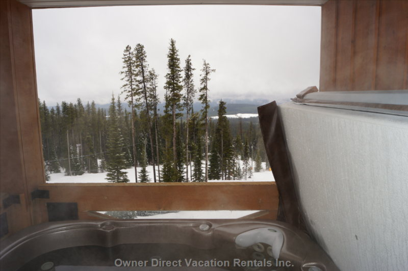 "View from the Hot Tub on Upper Level Deck down on to ""Hummingbird"" Run"