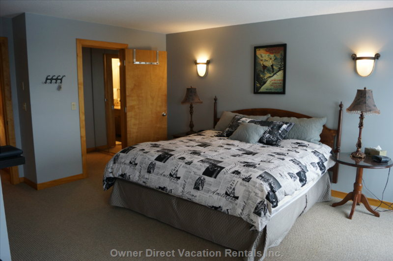Master Bedroom with Walk through Wardrobe and Ensuite with Shower over the Bath (Upper Level)