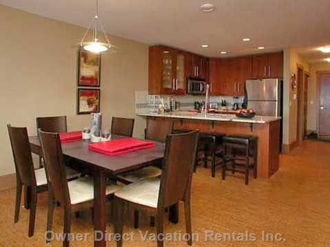 Open Planned Kitchen & Dining Area