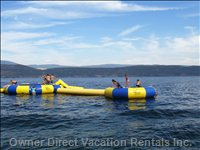 Water Tubes, Slides and Trampolines Available Only in the Hot Summer Months. (Free)