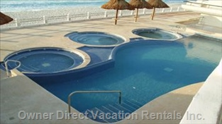 Designated Adult Pool Area with 3 Jacuzzis!