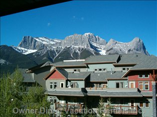 View of Mt. Lawrence Grassi from Balcony - Plan your Hike up Ha-Ling While Relaxing in the Evening