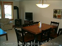 Dining Area and Living Room.  Lots of Room for Meals with your Family!