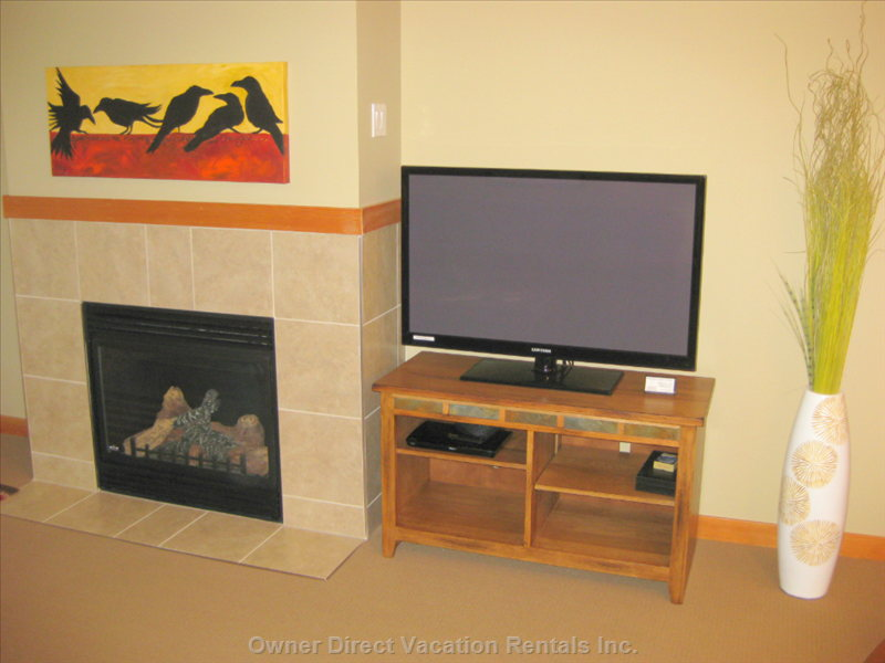 Gas Fireplace and Entertainment Center.