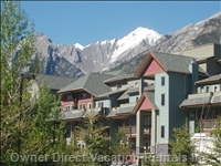 The Lodges at Canmore with Lady McDonald Mountain in the Background