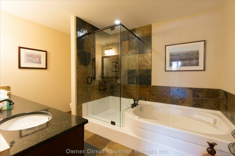 Master Bathroom with Grab Bars in Shower