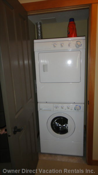 In Suite Laundry with Laundry Detergent Supplied