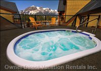 Hot Tub and Mountians