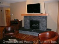 "Rundle Rock Fireplace and 40"" Lcd TV"