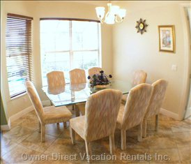 Breakfast Nook - Table and Chairs for 10