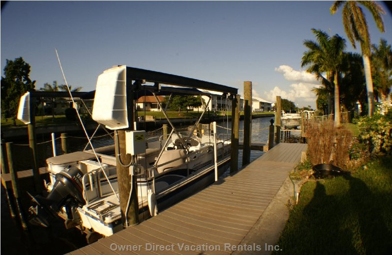 Boat Dock with Lift - Owner May Have Boats Available to Rent, Please Discuss Rates with Owner.
