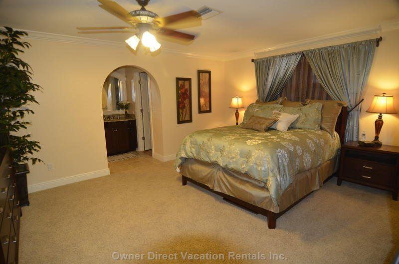 Master Bedroom Queen Size Bed, Lcd/Hd TV