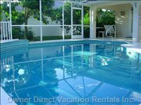 Private, South Facing, Solar Heated Pool