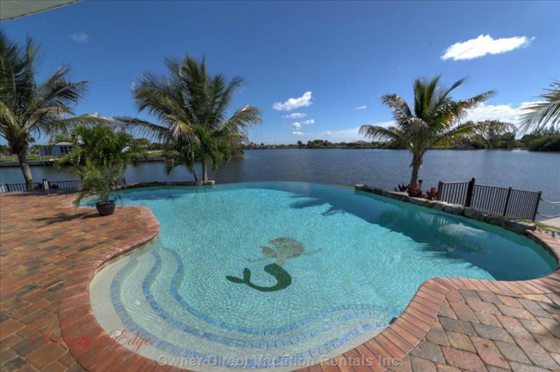 Heated Infinity Edge Saltwater Pool