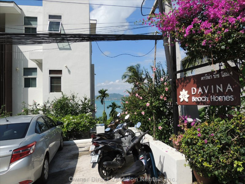 Road Entrance to Davina Beach Homes Facing the Sea