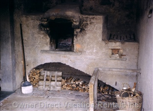 "The Largest ""Forno"" Or Old Stone Oven in the Area. At I Cinghiali for Villa Guests."